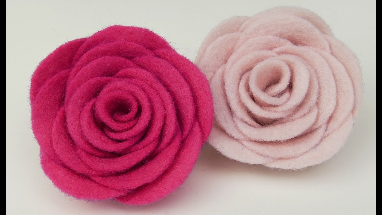 How To Make Felt Roses I Easy Felt Flower