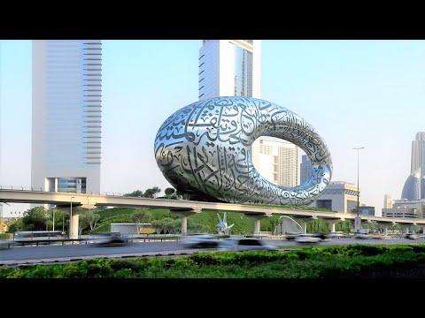 Sheikh Zayed Road Dubai Museum Of The Future View