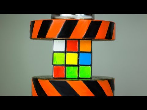 HYDRAULIC PRESS VS RUBIKS CUBE AND TOYS | The Crusher