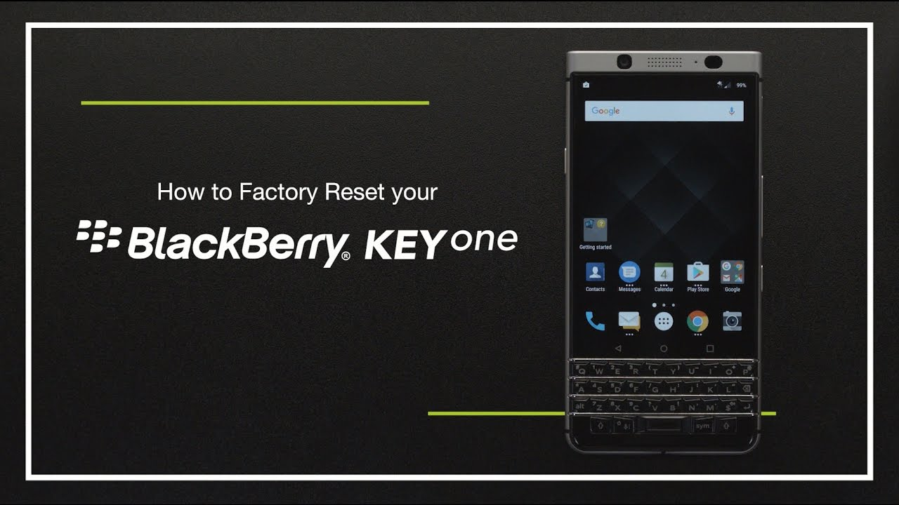 Hard Reset BLACKBERRY KEYone - HardReset info