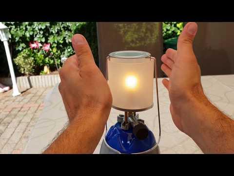 Es werde Licht! Gaslampe mit Glühstrumpf Camping Heizung und Zeltplatz Licht