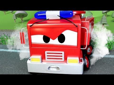 Авто Патруль - Опасная железная дорога - Автомобильный Город  🚓 🚒 детский мультфильм
