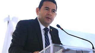 Presidente Jimmy Morales inaugura aeródromo de Quetzaltenango