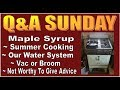 Q&A SUNDAY episode 12. Answering Questions About Our Off Grid Cabin Life.