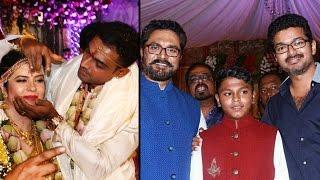 Radhika daughter Rayane marries Abhimanyu Mithun - Exclusive pics | Vijay, Shankar, Vikram, Sarathkumar | Wedding