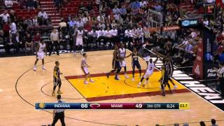 Dwyane Wade and Paul George Duel in Miami