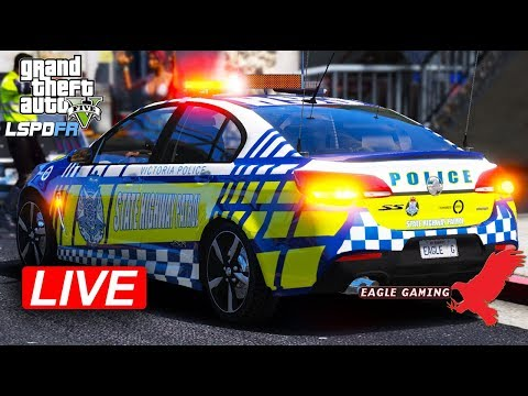 GTA V | Australian LSPDFR Live! | US Route 1 Highway Patrol in the Victoria Police VF II SS
