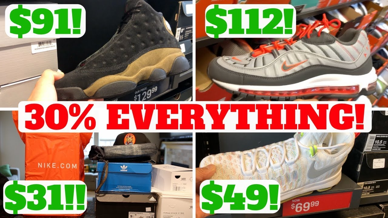 size 40 989ef 963be COPPED $31 SNEAKERS! 30% OFF EVERYTHING AT NIKE OUTLET!