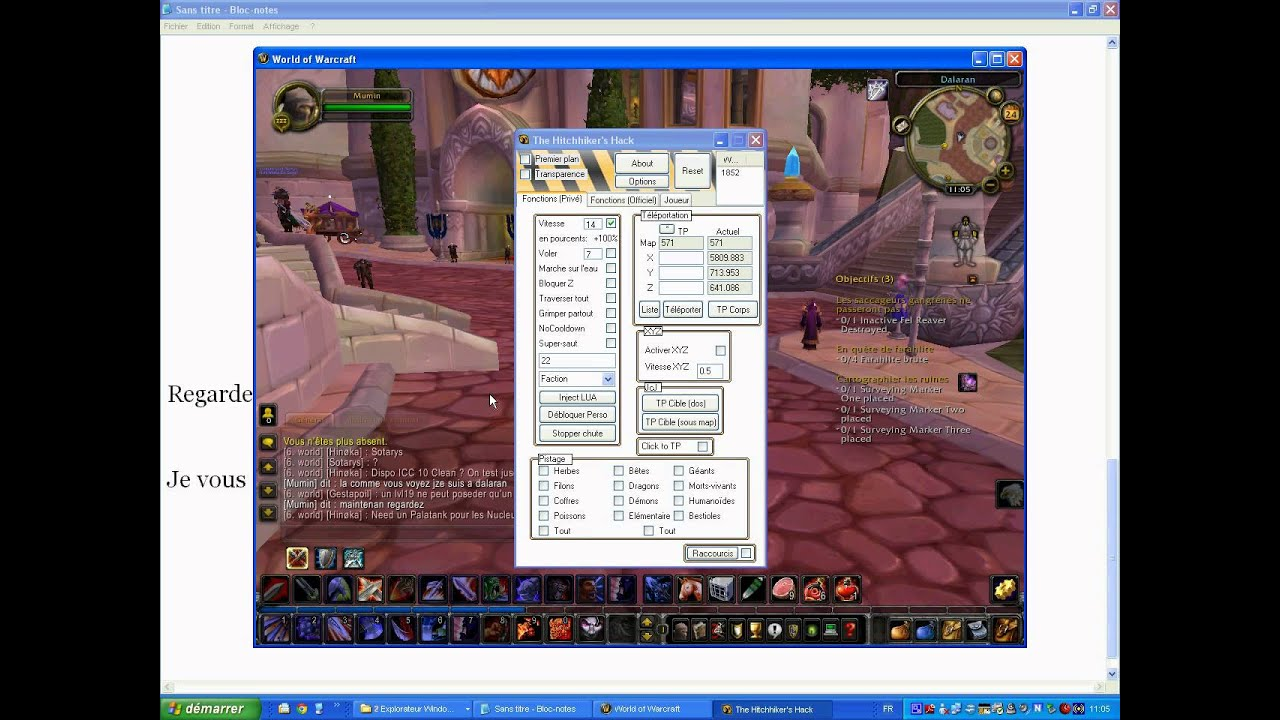 cheat wow speed hack and fly hack 3.3.5