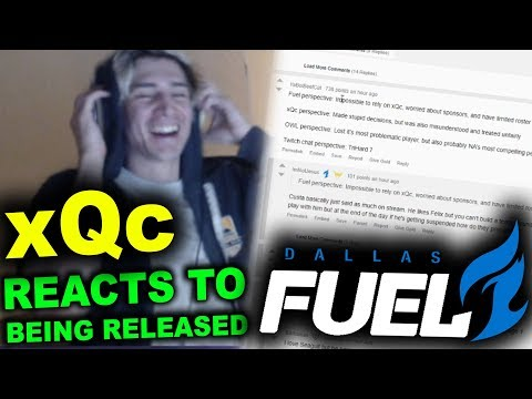 xQc REACTS TO being released from the DALLAS FUEL