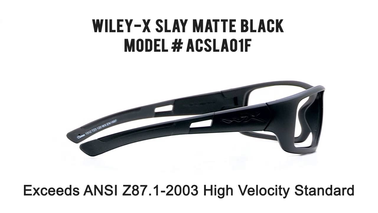 67e3fafc0c RX SAFETY Wiley X Slay Matte Black - YouTube