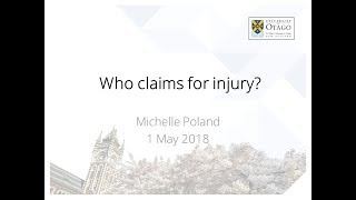 Comparing self-reported injury data and accident compensation claims (May 1, 2018)