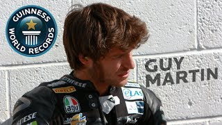 Guy Martin Breaks Downhill Sled Record