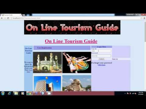 Online Tourism Guide  Java Project