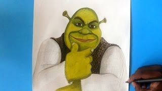 how to draw Shrek from Shrek forever after