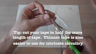 Getting started with copper tape for paper electronics