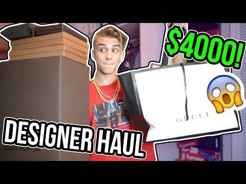 I GOT $4000 WORTH OF DESIGNER STUFF! (GUCCI, LOUIS VUITTON) HAUL