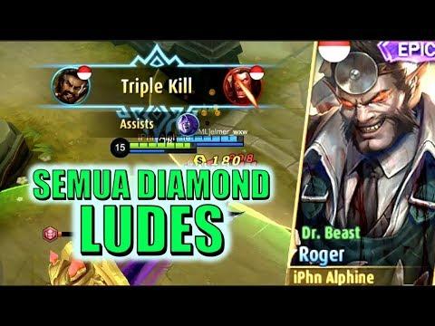 DIAMOND GUA LUDES DEMI SKIN ROGER INI! • Mobile Legends Indonesia (60 fps)