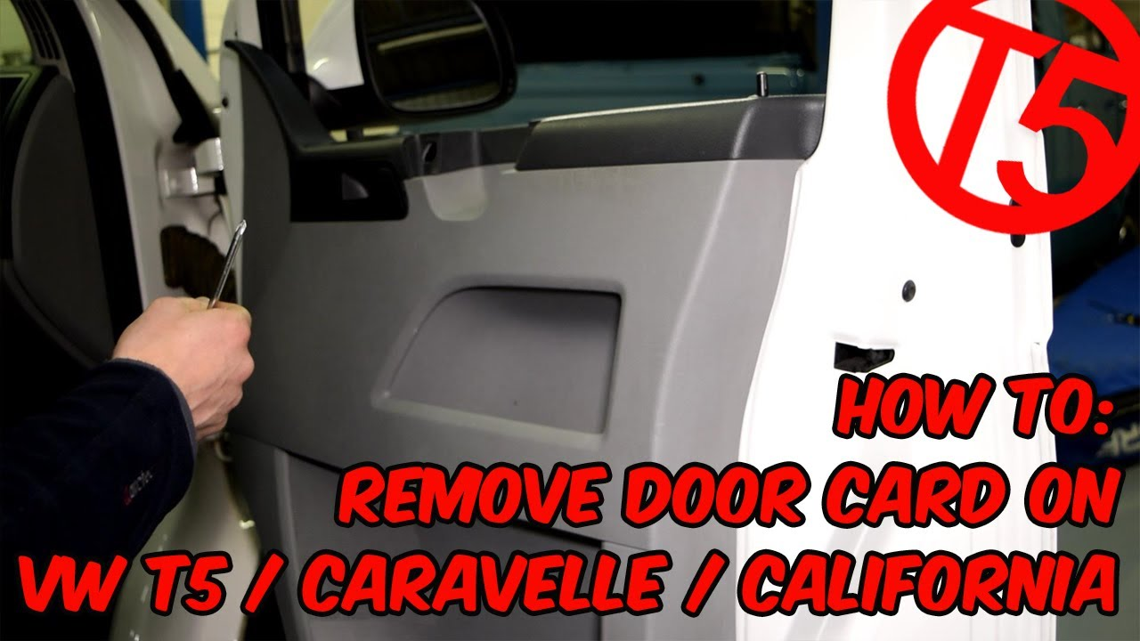how to remove the door card on vw t5 caravelle california [ 1280 x 720 Pixel ]