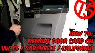 Як зняти дверну карту на VW Т5, Каравела, Каліфорнія