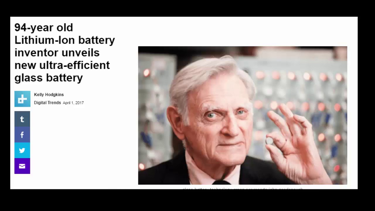 94 year old Lithium Ion battery inventor unveils new ultra