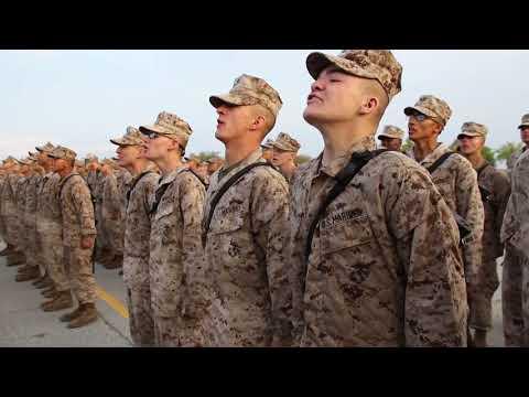 Bravo Company Sings The Marines Hymn - Grad 04/20/17