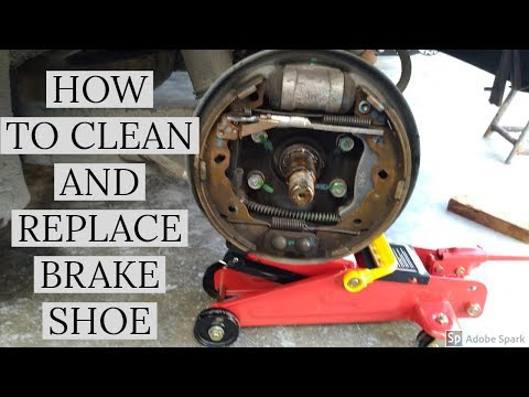 HOW TO CLEAN AND REPLACE BRAKE SHOE (HYUNDAI EON)