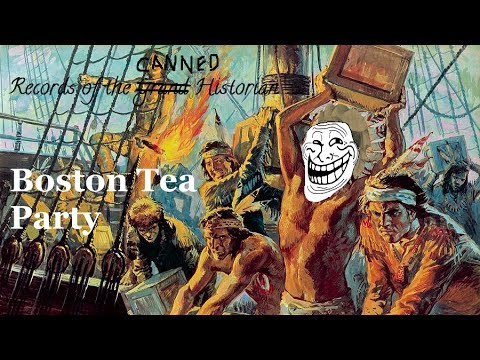 canned histories boston tea party youtube. Black Bedroom Furniture Sets. Home Design Ideas
