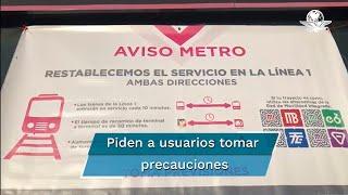 Los trenes de la Línea 1 entrarán en servicio cada 10 minutos y el tiempo del recorrido de terminal a terminal, desde Observatorio a Pantitlán será de 50 minutos