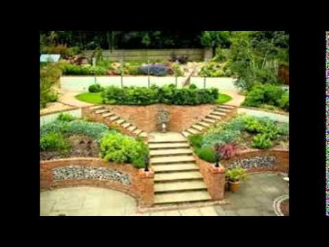 Sloping garden design ideas youtube for Small sloping garden designs