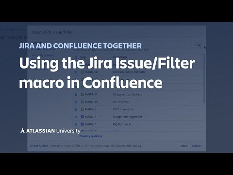 Using The Jira Issue/Filter Macro In Confluence