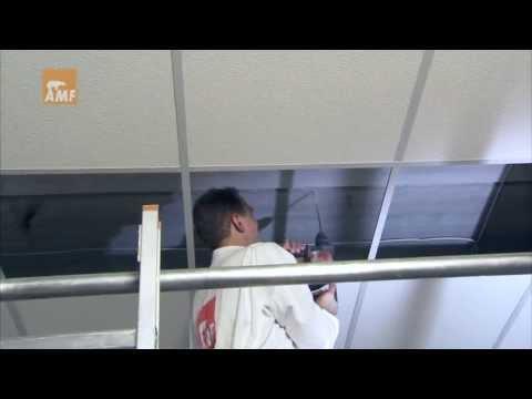 Видео инструкция по монтажу подвесного потолка типа Армстронг