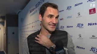Roger Federer: 2019 ATP Finals Round Robin Win 2 Tennis Channel Interview