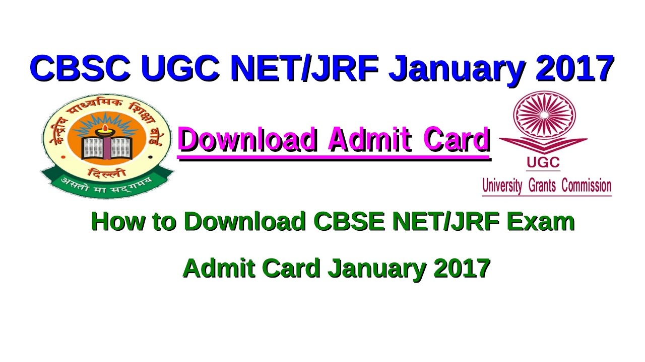 Ugc net december 2018 admit card | ups education.