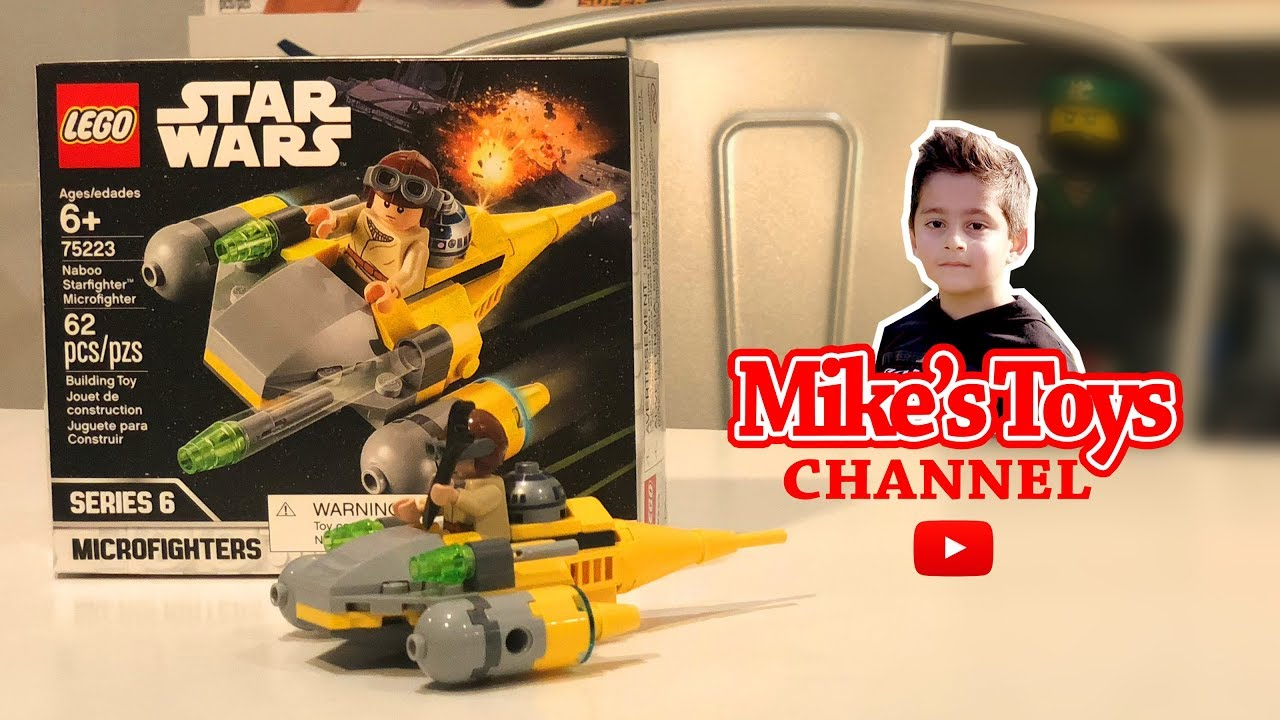 Lego Star Wars Naboo Starfighter Microfighter Series 6 75223 Time Lapse Speed Building