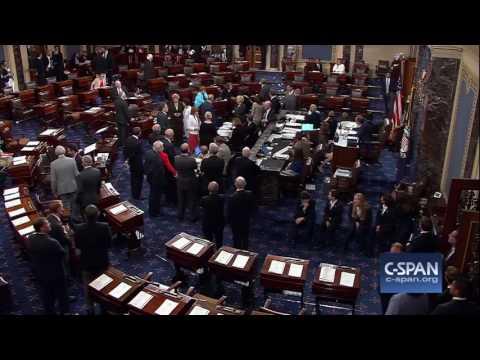 Money thrown onto Senate floor during protest (C-SPAN)