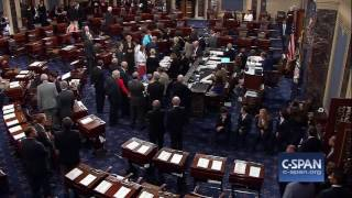 Money thrown onto Senate floor during protest (C-SPAN)