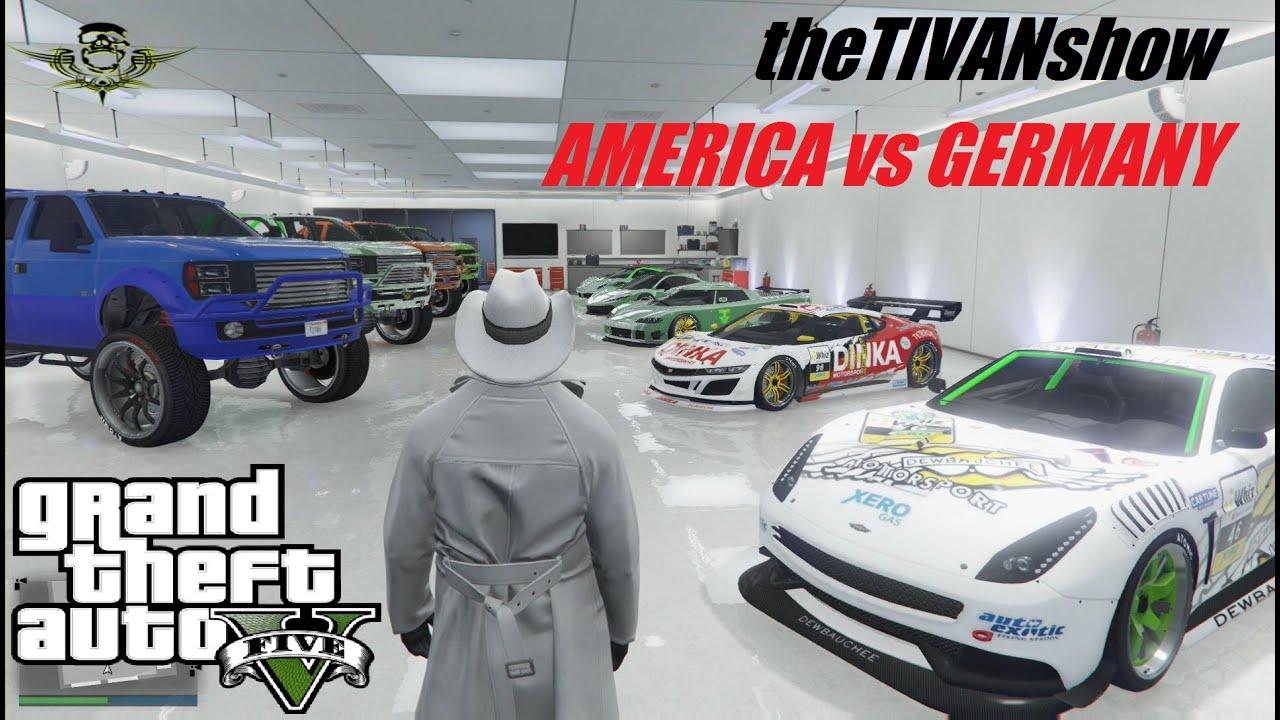 GTA5 - AMERICA vs GERMANY - PS4 - LIVE WORLD WIDE RACING