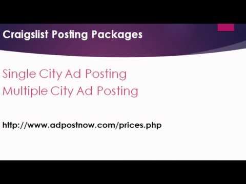 Affordable Craigslist Live ad Posting Services