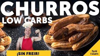 Cómo hacer CHURROS con canela y azúcar | palitos estilo churros saludables | receta saludable