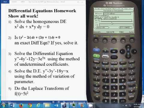 ▷Differential Equations Made Easy - Step by Step ✅ - using