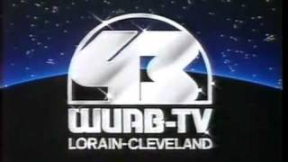 Vintage - WUAB TV  43 - Box In Space Station ID