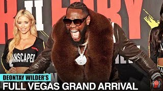 HYPED UP! DEONTAY WILDER ARRIVES TO THE MGM GRAND FOR TYSON FURY REMATCH IN GRAND ARRIVAL