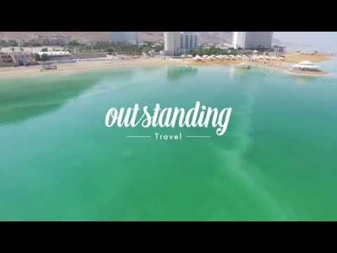 OUTstanding Travel Drone Flight Over Masada & The Dead Sea