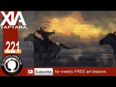 Speed painting tutorial back lighting horseback archer