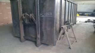 сварка вертикальных слепых швов сверху вниз полуавтоматом(Контейнер мусорный ,почти выварен. Аппарат ESAB., 2016-05-28T23:30:17.000Z)