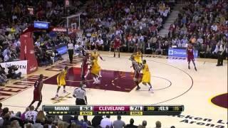 LeBron James triple double (25 points 10 assists 12 rebounds) vs Cleveland Cavaliers 03/20/2013 HD