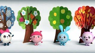 МАЛЫШАРИКИ - Времена года🌼 (Умные песенки🎶) развивающие  и обучающие мультики для детей и малышей