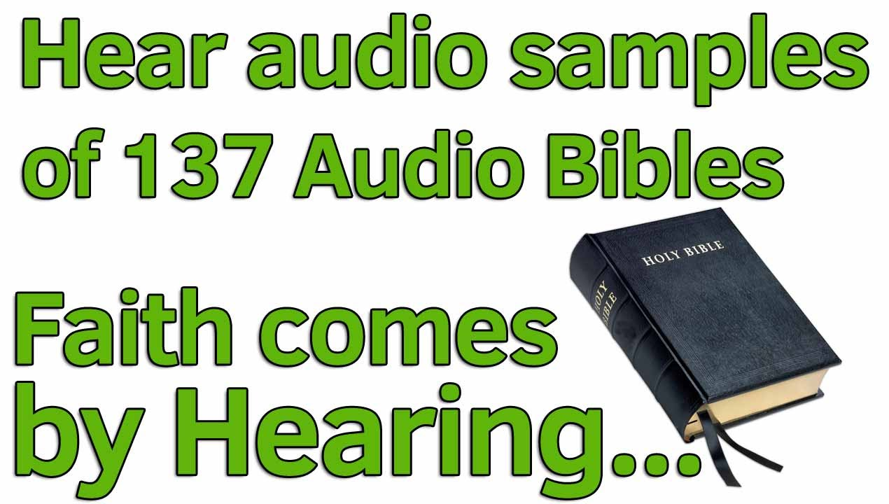 Playing audio samples of every Audio Bible