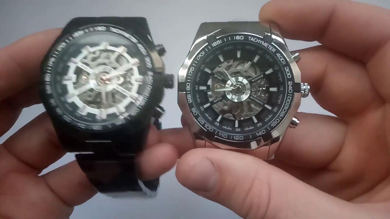 Часы Winner Skeleton Silver